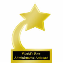 Administrative Assistant, Gold Star Award Trophy Statuette