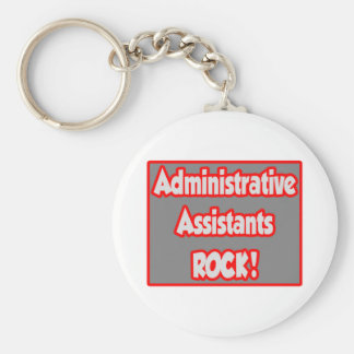 Administrative Assistants Rock! Basic Round Button Keychain