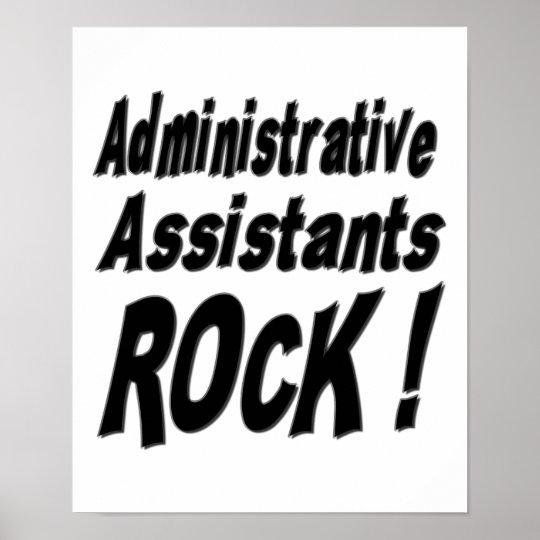 Administrative Assistants Rock! Poster Print