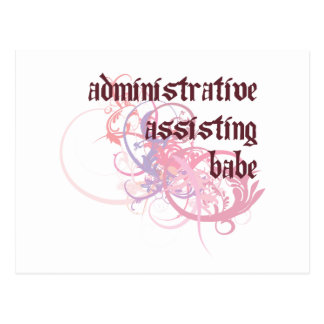 Administrative Assisting Babe Postcard