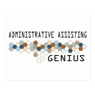 Administrative Assisting Genius Postcard