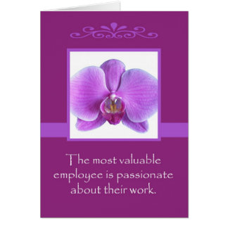 Administrative Professional Day Card -- Orchid