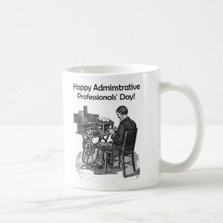 Administrative Professional Day Male Typist Drawin Coffee Mug