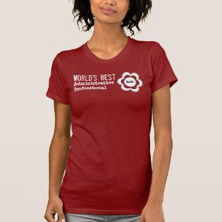 ADMINISTRATIVE PROFESSIONAL Flower V01 RED T-Shirt