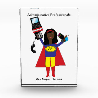 Administrative Professional Super Hero Acrylic Award