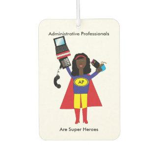 Administrative Professional Super Hero AfricanAmer Car Air Freshener