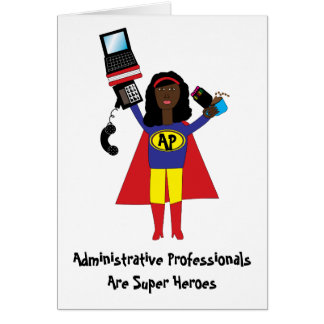 Administrative Professional Super Hero AfricanAmer Cards
