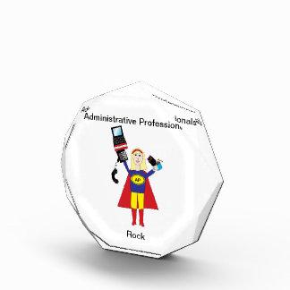 Administrative Professional Super Hero (Blonde) Acrylic Award