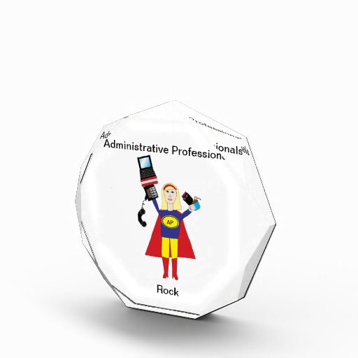 Administrative Professional Super Hero (Blonde) Acrylic Award