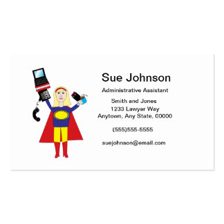 Administrative Professional Super Hero (Blonde) Bu Double-Sided Standard Business Cards (Pack Of 100)