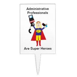 Administrative Professional Super Hero (Blonde) Cake Topper