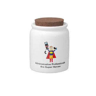 Administrative Professional Super Hero (Blonde) Candy Jars