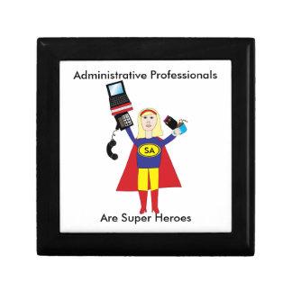 Administrative Professional Super Hero (Blonde) Keepsake Boxes