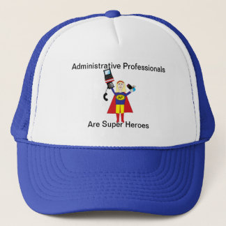 Administrative Professional Super Hero (Blonde) Trucker Hat