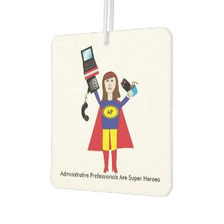 Administrative Professional Super Hero (Brunette) Air Freshener