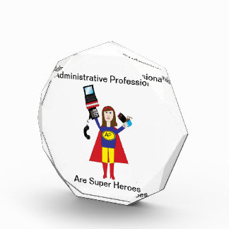 Administrative Professional Super Hero (Brunette) Award