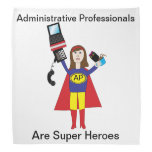 Administrative Professional Super Hero (Brunette) Kerchiefs