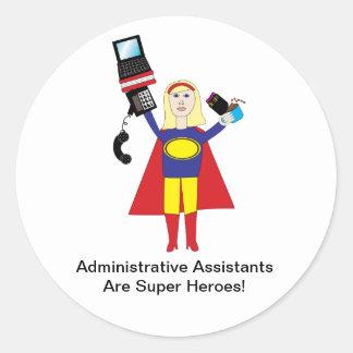 Administrative Professional Super Hero Sticker