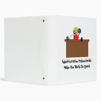 Administrative Professional World (Blonde) Avery B 3 Ring Binder