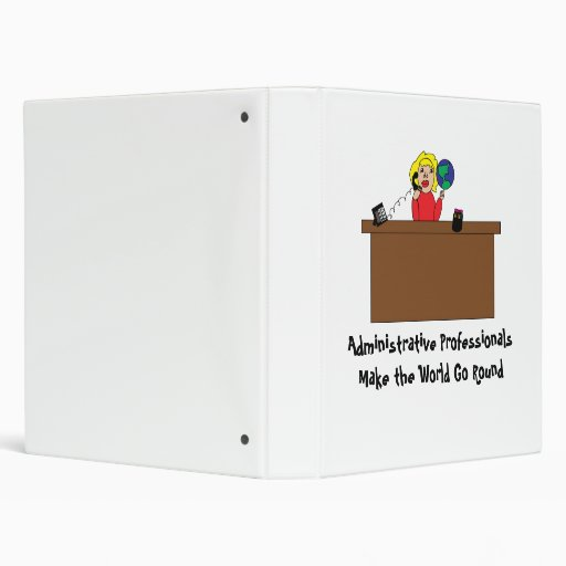 Administrative Professional World (Blonde) Avery B 3 Ring Binder