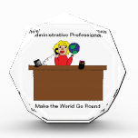 Administrative Professional World (Blonde) Acrylic Award
