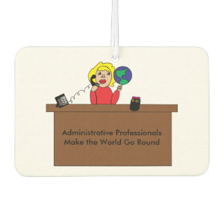 Administrative Professional World (Blonde) Car Air Freshener