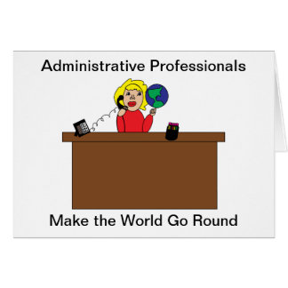 Administrative Professional World (Blonde) Greeting Card