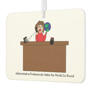 Administrative Professional World (Brunette) Car Air Freshener