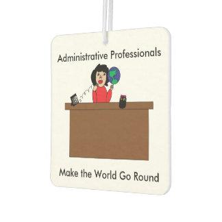Administrative Professional World (Dark Hair) Car Air Freshener