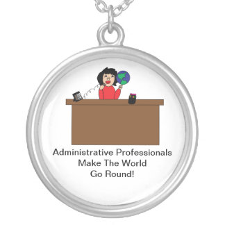 Administrative Professional World Necklace