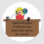 Administrative Professional World Sticker