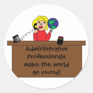 Administrative Professional World Sticker
