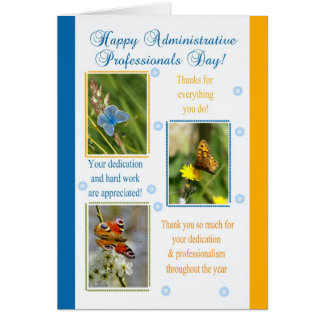 Administrative Professionals Day Card - Butterflie