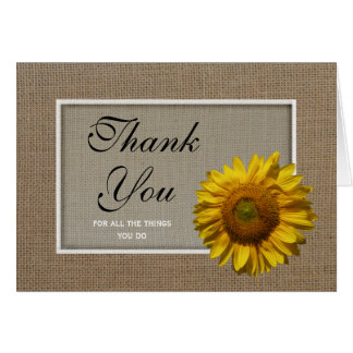 Administrative Professionals Day Card -- Sunflower Note Card