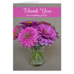 Administrative Professionals Day Card Zinnias