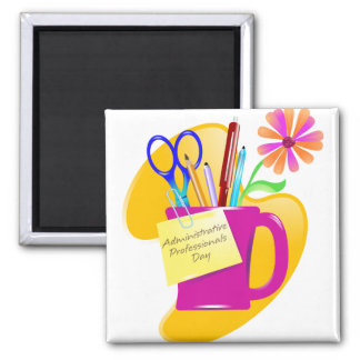 Administrative Professionals Day Design 2 Inch Square Magnet