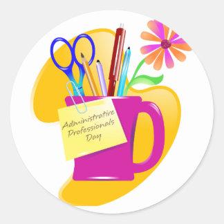 Administrative Professionals Day Design Classic Round Sticker