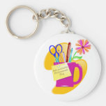 Administrative Professionals Day Design Keychain