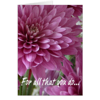 Administrative Professional's Day-Pink Floral Greeting Card