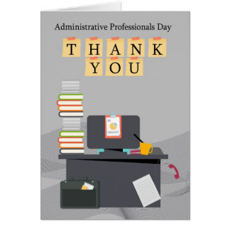 Administrative Professionals Day Thank You, Office Card