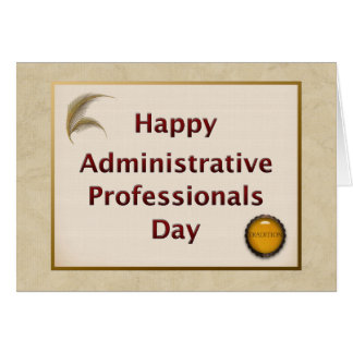 Administrative Professionals Day Tradition Card