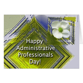 Administrative Professionals Day White Floral Card