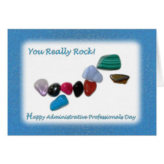 Administrative Professionals Day You Really Rock Card