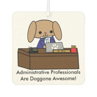 Administrative Professionals Doggone Awesome Dog M Car Air Freshener