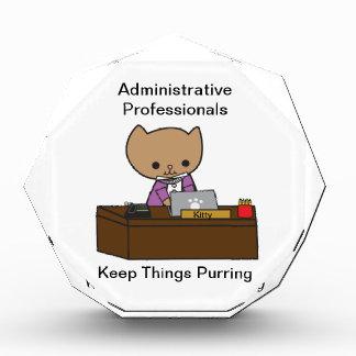 Administrative Professionals Keep Things Purring Acrylic Award