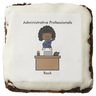 Administrative Professionals Rock African American Brownie