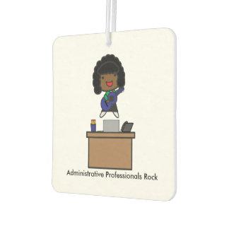 Administrative Professionals Rock African American Car Air Freshener