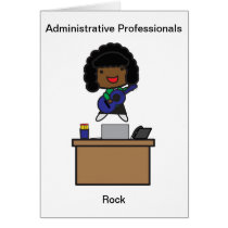Administrative Professionals Rock African American Card