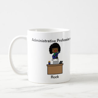 Administrative Professionals Rock AfricanAmerican Coffee Mug