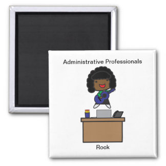 Administrative Professionals Rock AfricanAmerican Magnet